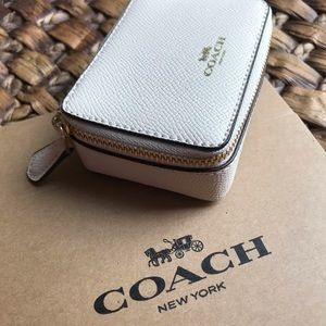 Coach triple pill bottle zippered carrier